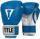 Title Pro Style Leather Training Gloves boxing kickboxing muay thai mma spar gym