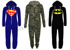MEN WOMENS UNISEX BATMAN SUPERMAN CAMOUFLAGE ONESIE JUMPSUIT PLAYSUIT ALL IN ONE