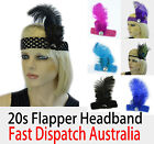 20s Great Gatsby Party Costume Head Piece Hair Band Flapper Feather Headband