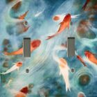 Light Switch Plate Outlet Covers ASIAN HOME DECOR ~ KOI POND FISH