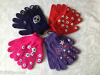 BOYS & GIRLS PAIR OF GRIPPER GLOVES, ONE SIZE, KIDS, CHILDRENS, SOFT & WARM