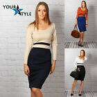 Women's Elegant Office Pencil Classic Business Shift Bodycon Casual Dress M17