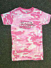 Martin Archery Pink Camo T-Shirt With Cat Logo - Short Sleeve - Women's Casual