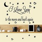 I love You to the moon and back again - wall art decal vinyl stickers