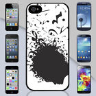 New Music Notes Head Art Apple iPhone & Samsung Galaxy Case Cover