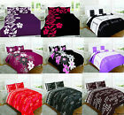 New 3Pc Polycotton Duvet Quilt Cover Bedding Sets With Pillowcase All Sizes