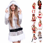 Sexy Women Miss Santa Claus Costume Fancy Dress Xmas Christmas Party Outfit