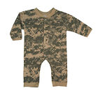 New Rothco 67058 Infant Toddler Digital Camo One Piece Long Sleeve Bodysuit