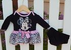Baby Girl Minnie Mouse 2 piece set Disney outfit cute 3 6 9 months