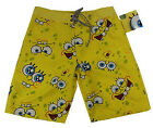 MENS Boys/Teens SPONGEBOB SQUAREPANTS Board Shorts Boardies SIZE 30,32 RRP$39.95