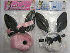 Bunny Kit Play Set ~ Ears, Collar, Cuffs, Tail In WHITE or PINK Boy what a deal!