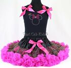 Pettiskirt Tutu 2 PC Set Leopard Minnie Mouse Pageant NWT Sz 1-12 FREE Bracelet