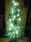 4 ft Indoor Artificial Christmas Tree Pre Lit Purple 70 lights Decorative