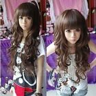 Women's New Fashion Lady Style Wigs Long Curly Cosplay Girl Hair Full Wig Free