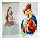 Finished Completed Cross Stitch Mother's love/mother & child freeshipping to USA