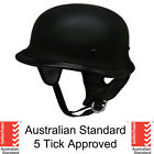 German style skull cap helmet  open face Matt black Gloss Carbon 5 tick NEW