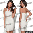 Womens Celeb Backless Bodycon Evening Skirt Party Bandage Wedding Dresses 681024