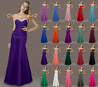 Full Length Bridesmaid Gowns Prom Party Evening Dresses Formal Beaded Size 6-26