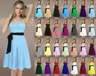 STOCK Short Bridesmaid Dresses Wedding Prom Dress Gown Size 6 8 10 12 14 16 18