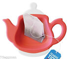 TEA BAG TIDY HOLDER DRIP CADDY SPOON REST TEA INFUSER REST RED, TURQUOISE, LIME