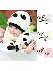 Winter Cute Unisex Girl Boy Baby Toddler Infant Warm Beanie Hat Cap Scarf Panda