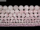 Natural Rose Quartz Gemstone Faceted Round Beads 15'' 2mm 4mm 6mm 8mm 10mm 12mm