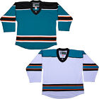 Custom NHL Style Replica Hockey Sock & Jersey w/NAME & NUMBER San Jose Sharks