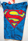 MENS Boys/Teens Superman Board Shorts Boardies BLue SIZE 28,30,32,34 Brand New!!