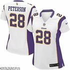 MINNESOTA VIKINGS #28 ADRIAN PETERSON~WOMENS~ON FIELD JERSEY SHIRT~S~XL~XXL~NWT