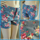 *Caroline Morgan*Floral on french blue pattern shorts sizes 8,10,12,14 SUMMER!