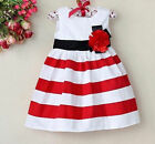 NTW Baby Girls Floral Tutu Dress Kids Princess Tripled Skirt Clothes 9-12Month