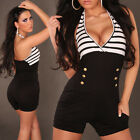 Sexy  Miltary Look Button  Overall  Jumpsuit Playsuit Many Colours Available