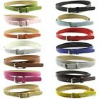 Colorful Womens Ladies Classic Faux Leather Thin Skinny Waistband Strap Belt