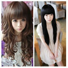 Korean Fashion Long Curly/straight Cosplay Party Women Girl Kawaii Hair Full Wig