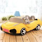 New Soft and Warm Pet Dog Cat Sport Car Bed House Sofa Bed Kennel Yellow Size S