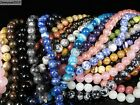 Natural Gemstones 7.5mm ~ 8mm ~ 8.5mm Round Loose Beads 15'' ~ 16'' Pick Stone