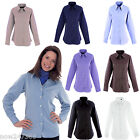 Ladies Smart Office Work Shirt Size 8 to 24 Pinpoint Oxford Blouse Easy Iron NEW