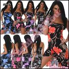 Sexy Womens Floral Mini Dress Ladies Flowers Summer Dress One Size 6,8,10,12 UK