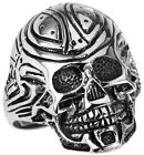 STAINLESS STEEL ROBOTIC SKULL RING, SIZES 10-14 R9