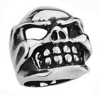STAINLESS STEEL CHUNKY CHOPPER SKULL RING, SIZES 10-14 R17