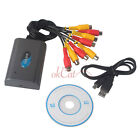 1/4/8 CH Channel Video Audio Capture Card Adapter USB DVR for CCTV Camera OFUK
