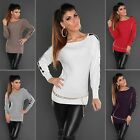 Women's Knit Lace and Buttons Open Sleeves Pullover Sweater - S/M (US 2-4-6)