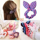1/5/10/20 pcs New Rabbit Ear Hair Tie Bands Ropes Korean Style Ponytail Holder