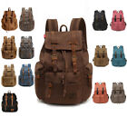 Travel - Men Women Travel Canvas Backpack Rucksack Camping Laptop Hiking School Book Bag
