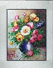 New completed finished needlepoint Embroidery-Classical flowers vase-soft framed