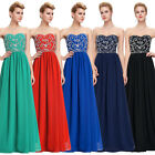 Formal Long/Beaded Evening Ball Gown Party Prom Bridesmaid Dress Stock Size 2-16