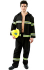 Mens Fireman Firefighter Uniform Books & Film Fancy Dress Costume