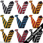 Junior School Children's Clip On Tie Equal Stripes Block Stripe READ THE LISTING