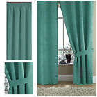 SUZY faux suede lined curtains with pencil pleat heading TEAL **W@W 50 OFF**