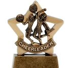 "3.25"" Cheerleader Mini Star Trophy with Free engraving up to 30 Letters"